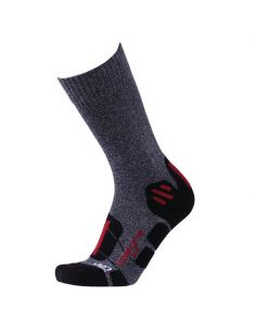 UYN, Herren EXPLORER, Outdoorsocken, Farbe grey melange/red_102060