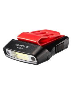 KLARUS, LED Stirnlampe HC3, 100 Lumen (inkl. Lithium-Batterie), black-red_107603