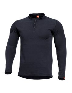 PENTAGON, Henley Shirt ROMEO, black_110535