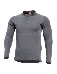 PENTAGON, Henley Shirt ROMEO, wolf grey_110541