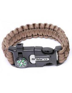 KLARUS, PARACORD SURVIVAL Armband, brown_111247
