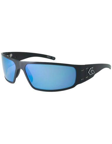 GATORZ Sonnenbrille MAGNUM verspiegelt, polarisiert (Black/Smoked w/Blue Mirror Polarized)_112077