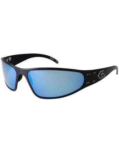 GATORZ Sonnenbrille WRAPTOR verspiegelt (Black/Smoked w/Blue Miror)_112333
