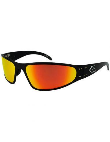 GATORZ Sonnenbrille WRAPTOR, verspiegelt, polarisiert (Black/Sunburst Polarized)_112341