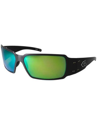 GATORZ Sonnenbrille BOXSTER verspiegelt (Black / Brown Polarized w/Green Mirror)_112795