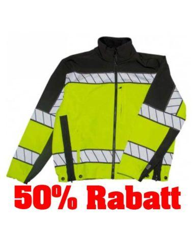 50% Rabatt: BLAUER, COLORBLOCK Softshell Fleece Jacket, Hi-Vis yellow_116204