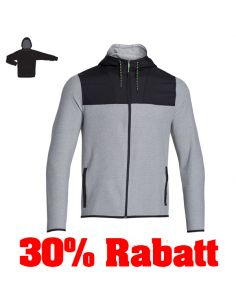 30% RABATT: UNDER ARMOUR, SURVIVAL FLEECE FULL ZIP HOODY, steel_73138