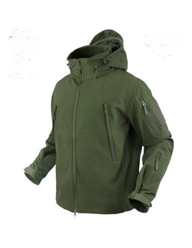 CONDOR OUTDOOR Softshell Jacke SUMMIT 602, olive-grün (mit Kapuze)_76794