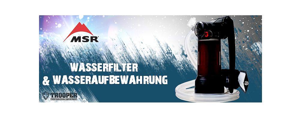 MSR Wasserfilter & Wasseraufbewahrung