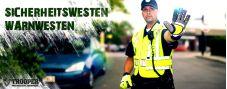 Blauer Sicherheitswesten