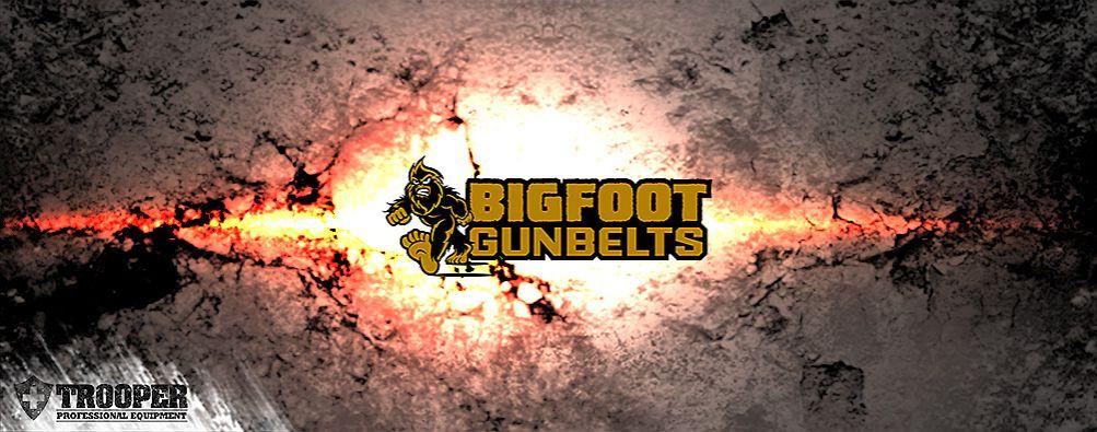 BIGFOOT GUN BELT - stabiler Ledergurt - ideal für Waffenträger