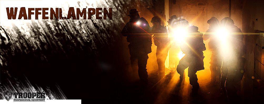 Waffenlampen vom Polizeiausrüster TROOPER