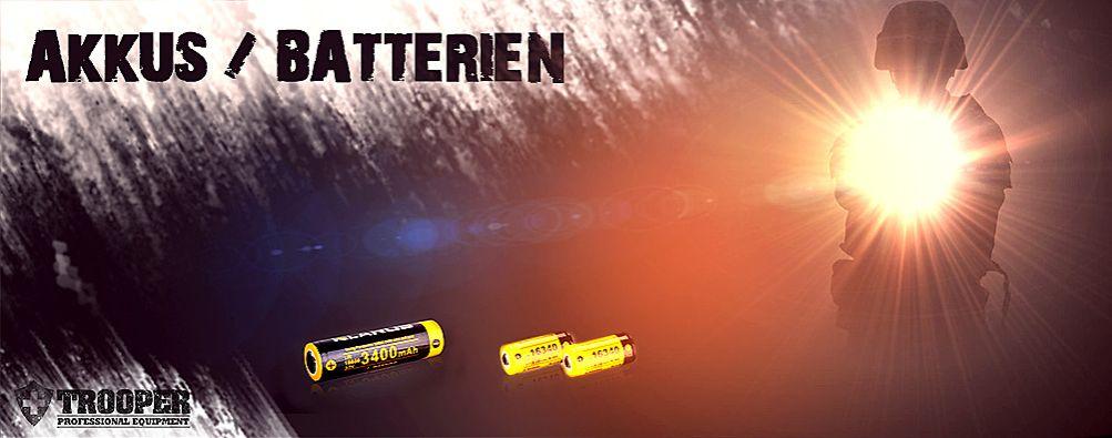 Akku 18650 und Taschenlampen Batterien online kaufen