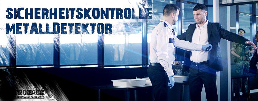 Metalldetektor für Sicherheitskontrollen, Durchgangsdetektor