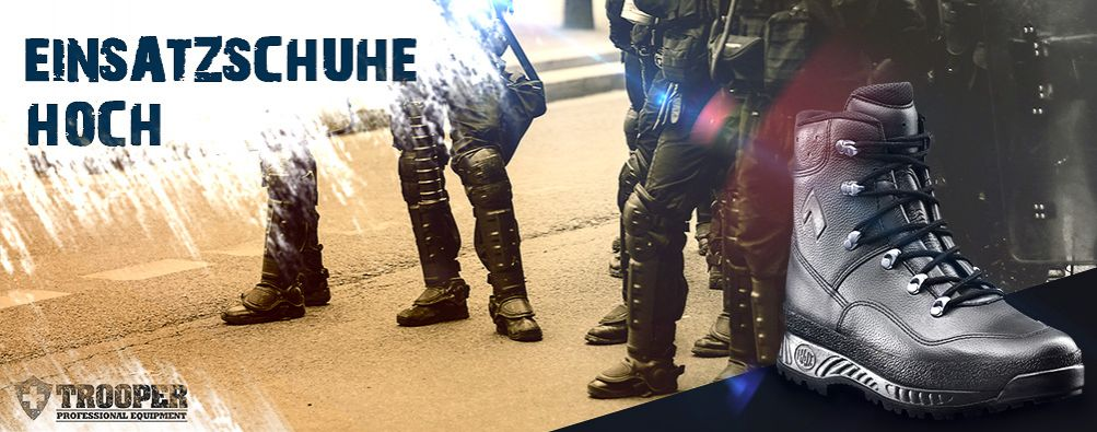 Einsatzschuhe für Polizei und Sicherheitsdienste