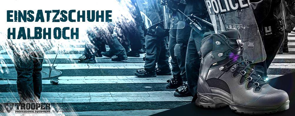 Einsatzstiefel halbhoch: Polizei und Sicherheitsdienste