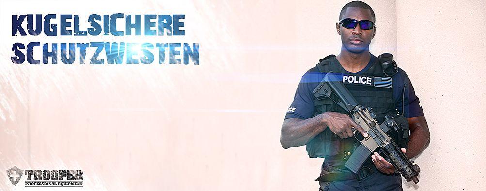 Kugelsichere Schutzweste - online bei TROOPER bestellen