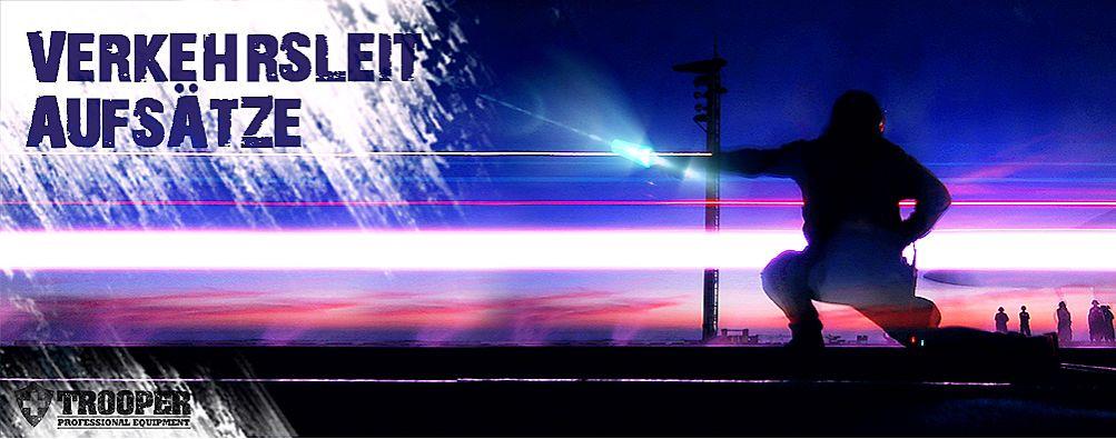 Verkehrsleitaufsatz und Warnaufsatz für Taschenlampen