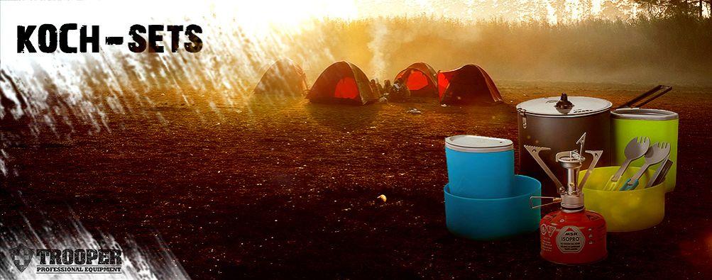Koch-Set für Outdoor Camping - TROOPER
