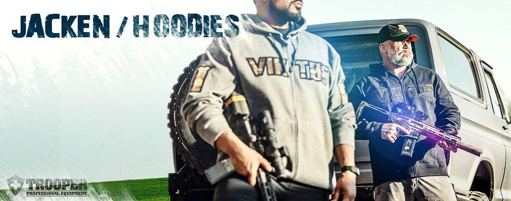 Taktische Jacken und Hoodies von VIKTOS - online bei TROOPER